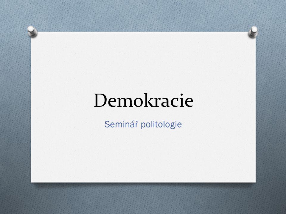 Co je demokracie?