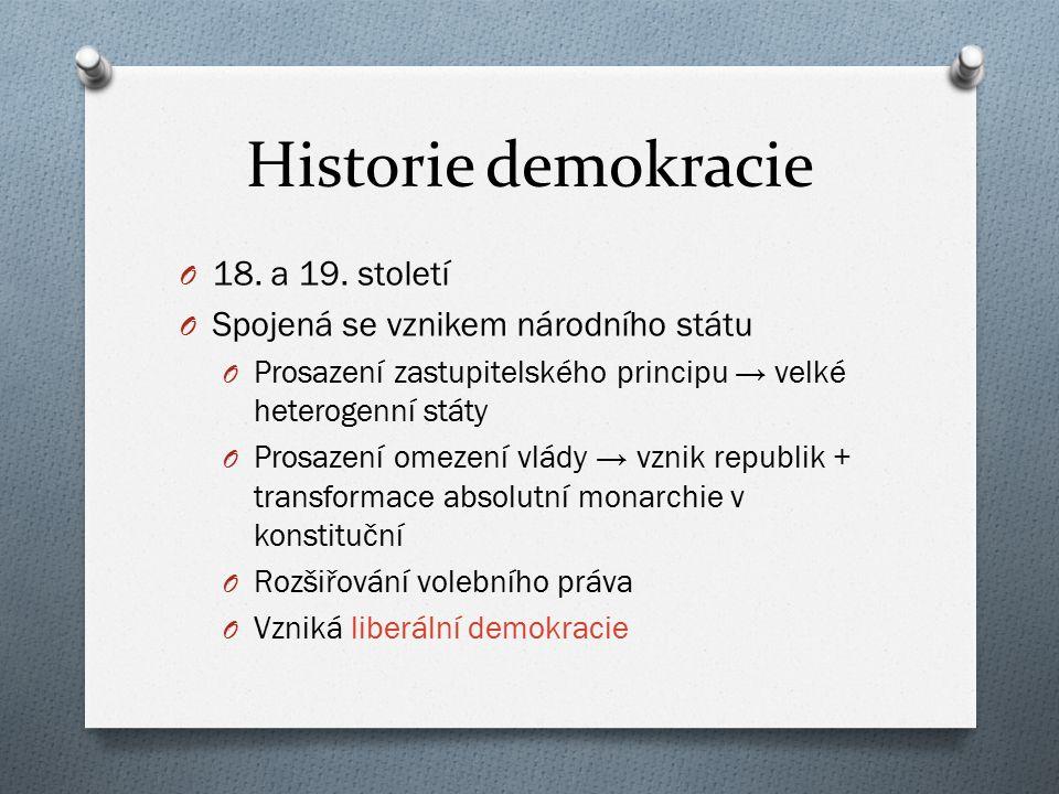 Historie demokracie O Přelom 20.a 21.