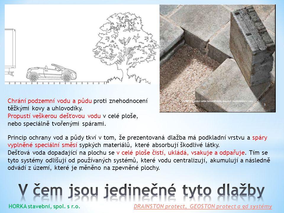 DRAINSTON protect je dlažba k čištění a vsakování dešťové vody, která obsahuje minerální oleje.