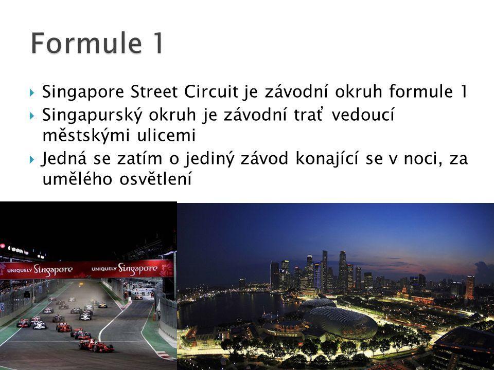  Singapore Street Circuit je závodní okruh formule 1  Singapurský okruh je závodní trať vedoucí městskými ulicemi  Jedná se zatím o jediný závod konající se v noci, za umělého osvětlení