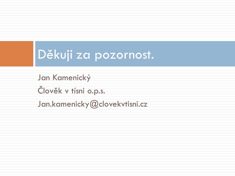 Jan Kamenický Člověk v tísni o.p.s. Jan.kamenicky@clovekvtisni.cz Děkuji za pozornost.