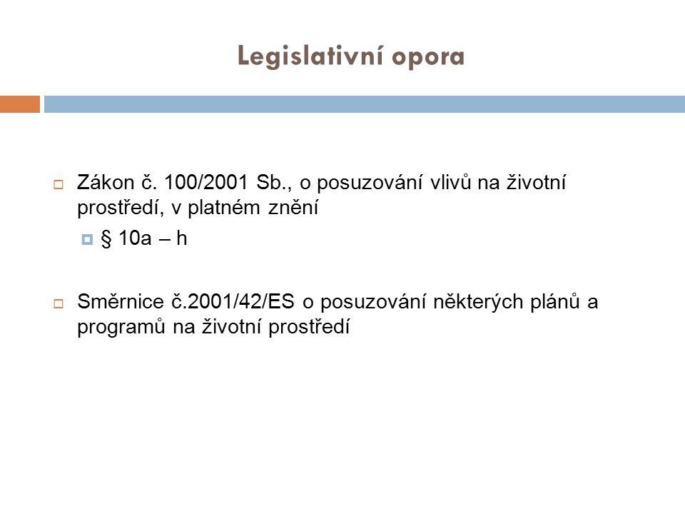 Legislativní opora  Zákon č.