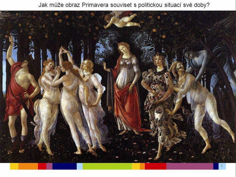 Jak může obraz Primavera souviset s politickou situací své doby 9