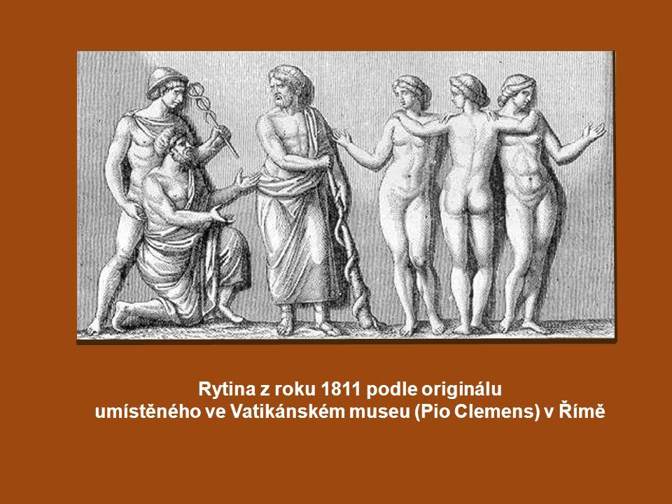 Rytina z roku 1811 podle originálu umístěného ve Vatikánském museu (Pio Clemens) v Římě