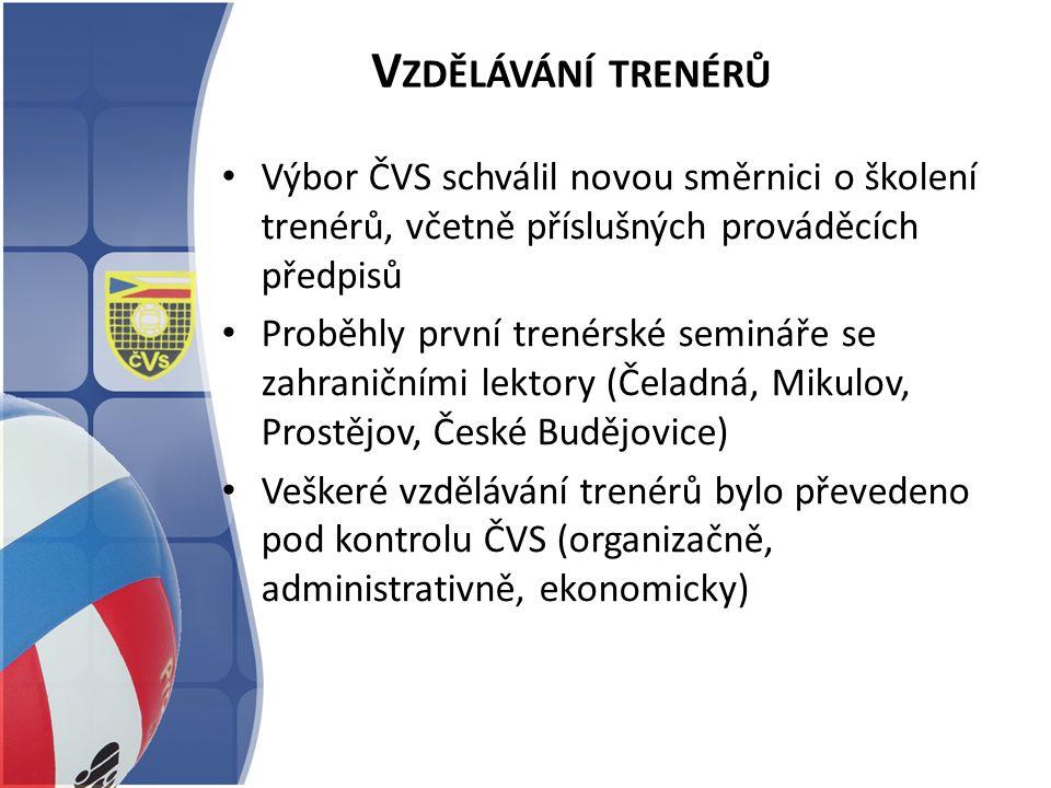 V ZDĚLÁVÁNÍ TRENÉRŮ Výbor ČVS schválil novou směrnici o školení trenérů, včetně příslušných prováděcích předpisů Proběhly první trenérské semináře se