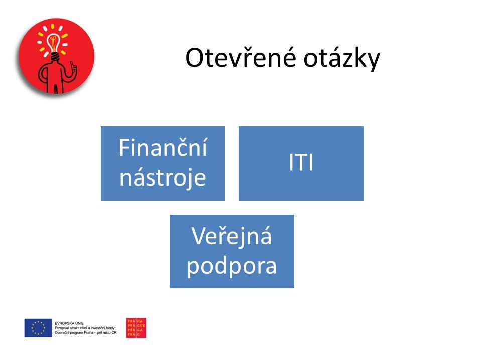 Finanční nástroje ITI Veřejná podpora Otevřené otázky