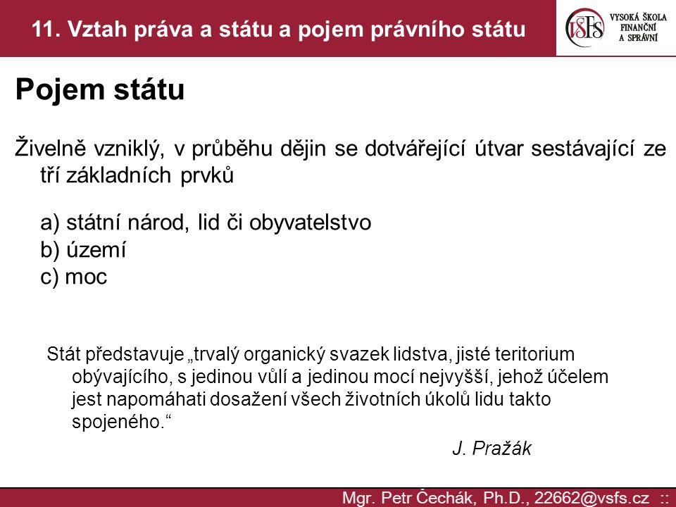 Mgr.Petr Čechák, Ph.D., 22662@vsfs.cz :: 11.