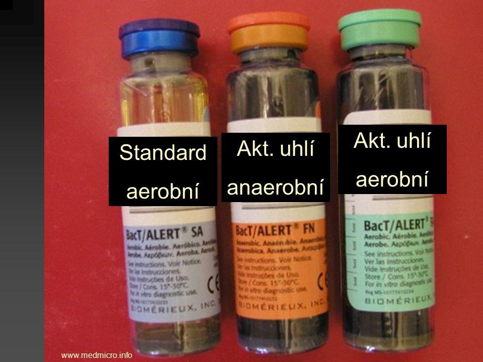 www.medmicro.info Standard aerobní Akt. uhlí anaerobní Akt. uhlí aerobní