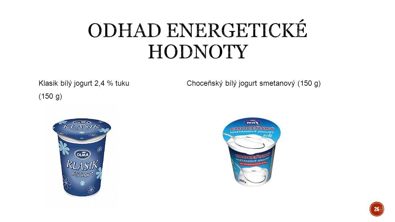 Klasik bílý jogurt 2,4 % tukuChoceňský bílý jogurt smetanový (150 g) (150 g) 26