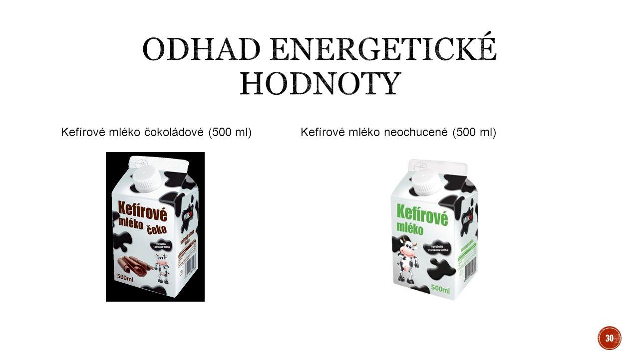 Kefírové mléko čokoládové (500 ml)Kefírové mléko neochucené (500 ml) 30