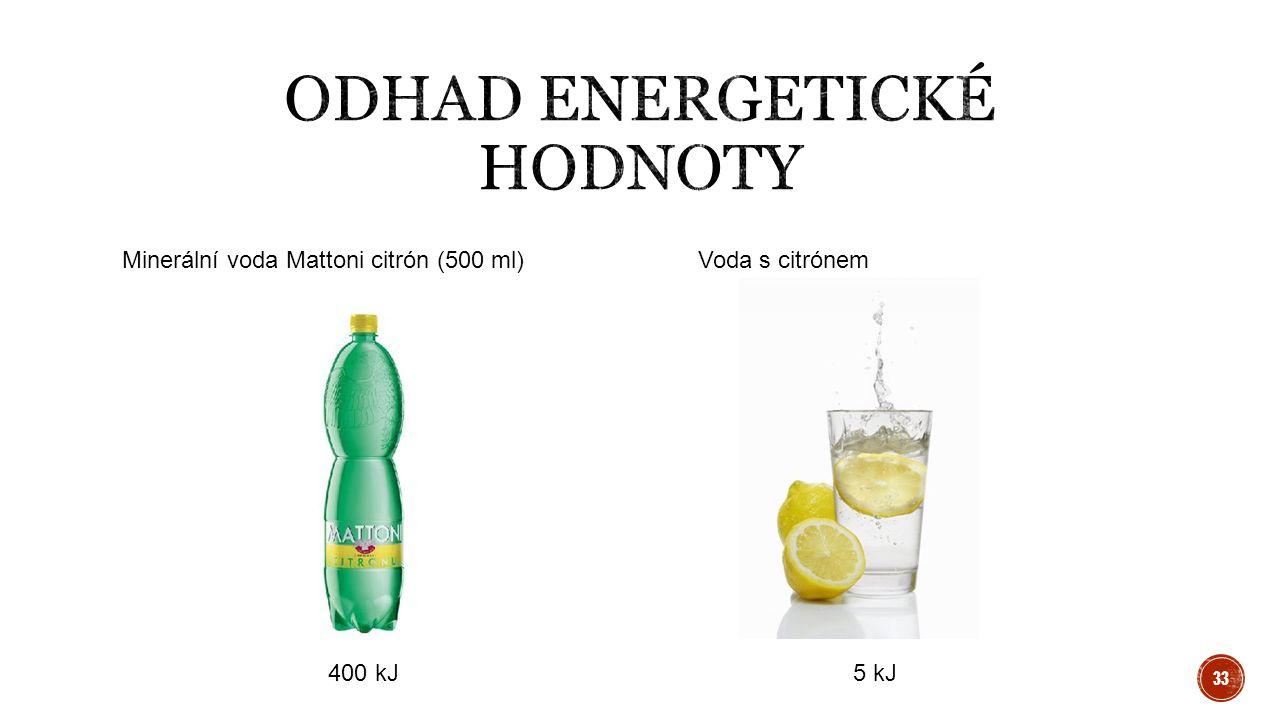 Minerální voda Mattoni citrón (500 ml) Voda s citrónem 400 kJ5 kJ 33