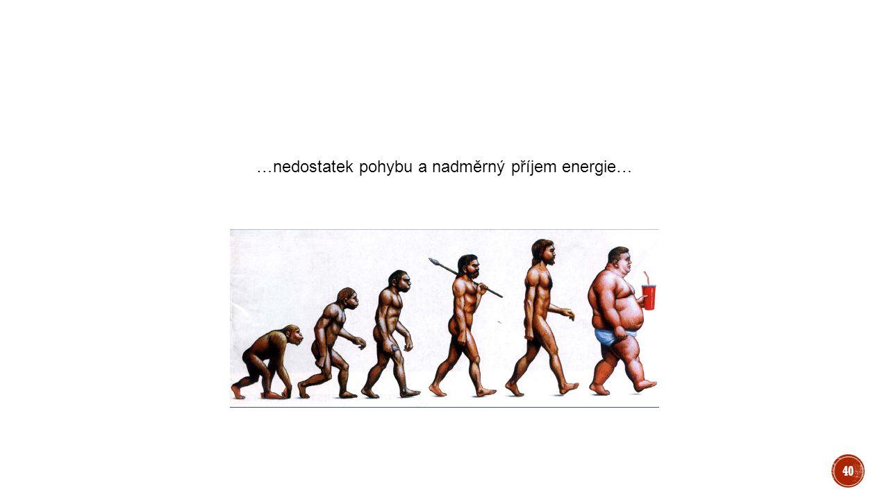 …nedostatek pohybu a nadměrný příjem energie… 40