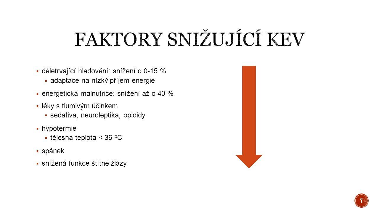 Faustův vzorec muži: BEV (kcal) = hmotnost * 24 ženy: BEV (kcal) = hmotnost * 23 18