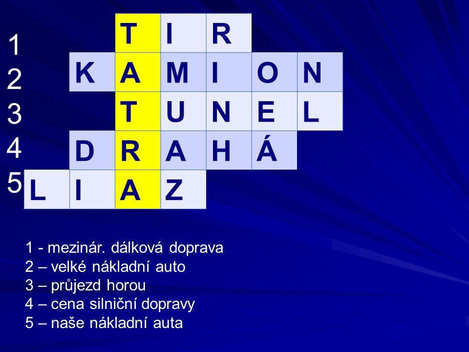 TIR KAMION TUNEL DRAHÁ LIAZ 1234512345 1 - mezinár.