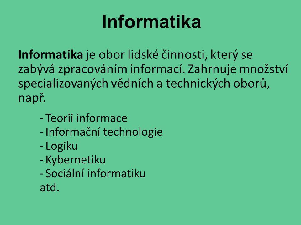 Výpočetní technika je technická disciplína, která se zabývá obsluhou výpočetních prostředků určených ke zpracováním dat (počítačů, periferií)