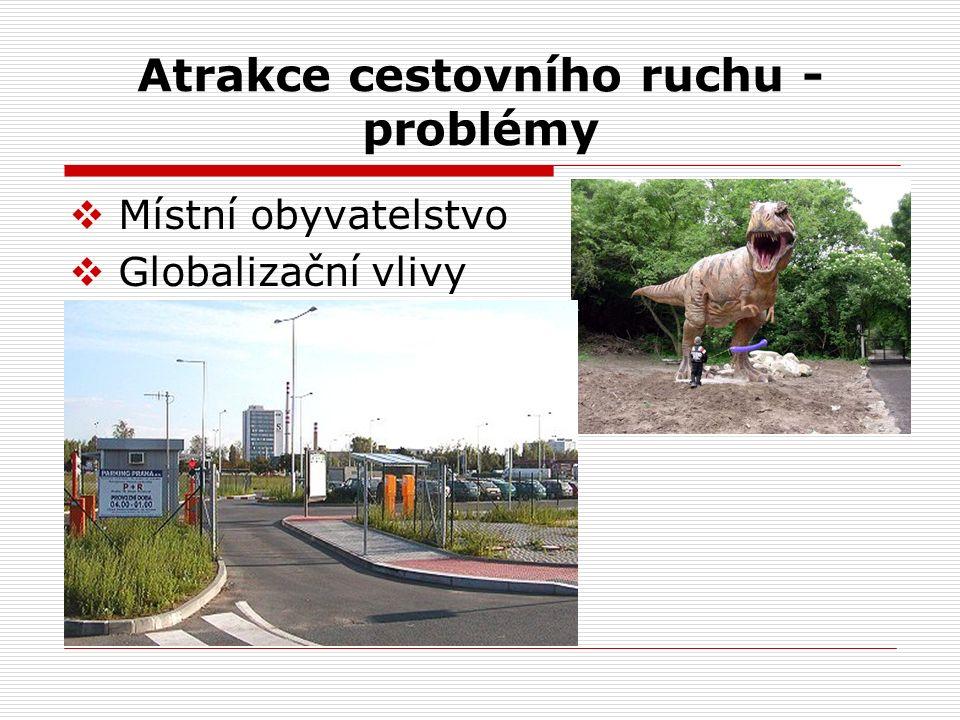 Atrakce cestovního ruchu - problémy  Místní obyvatelstvo  Globalizační vlivy