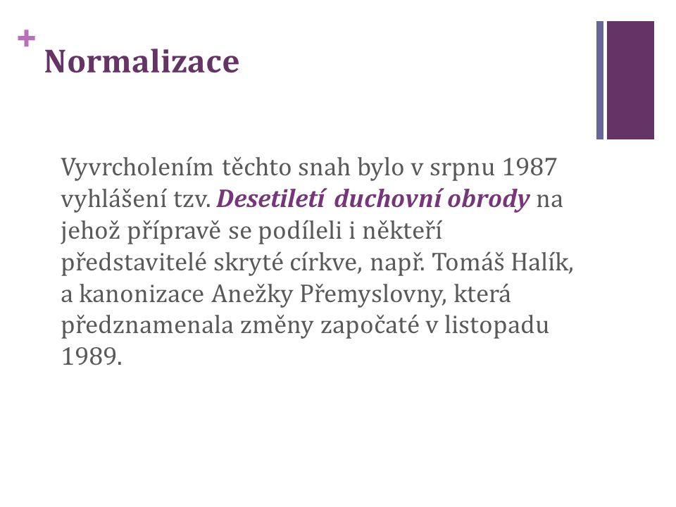 + Normalizace Vyvrcholením těchto snah bylo v srpnu 1987 vyhlášení tzv.