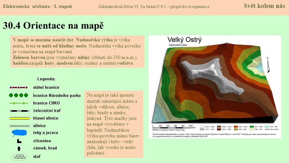 30.4 Orientace na mapě Elektronická učebnice - I.