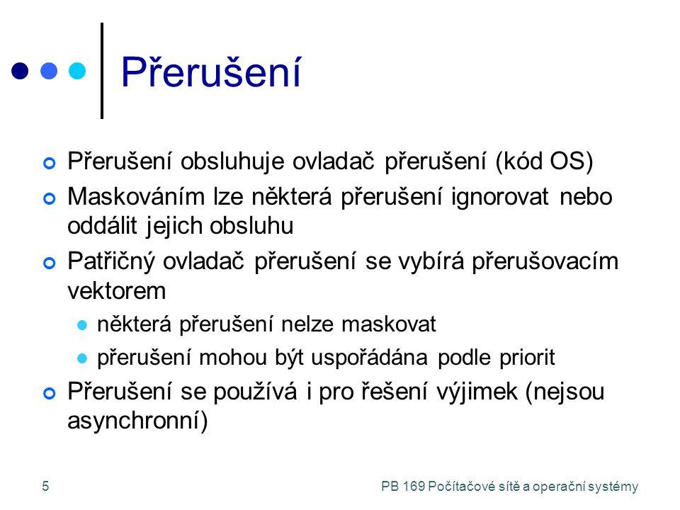 PB 169 Počítačové sítě a operační systémy16 Příklad: Síťová aplikace