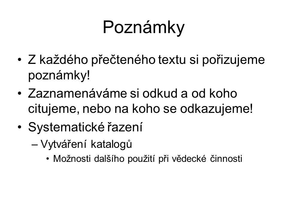 Jazyková úprava textu V práci nesmí zůstat žádná jazyková chyba, a proto se při úpravách musí postupovat systematicky.