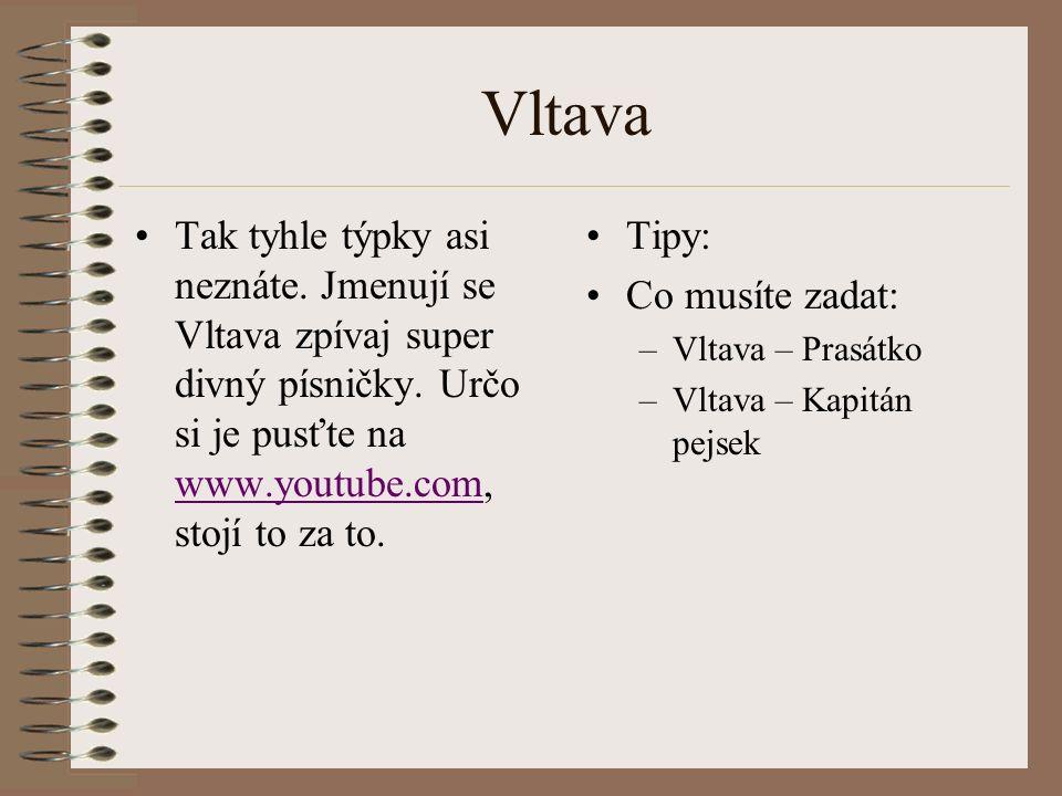 Vltava Tak tyhle týpky asi neznáte.Jmenují se Vltava zpívaj super divný písničky.
