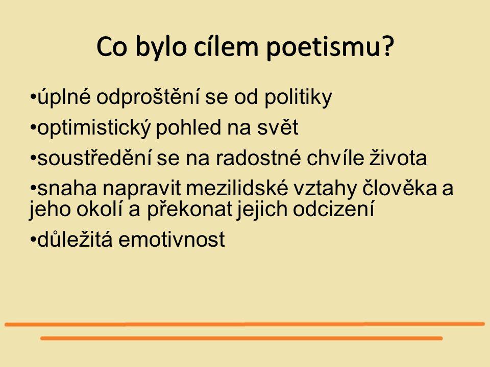 Co bylo cílem poetismu.