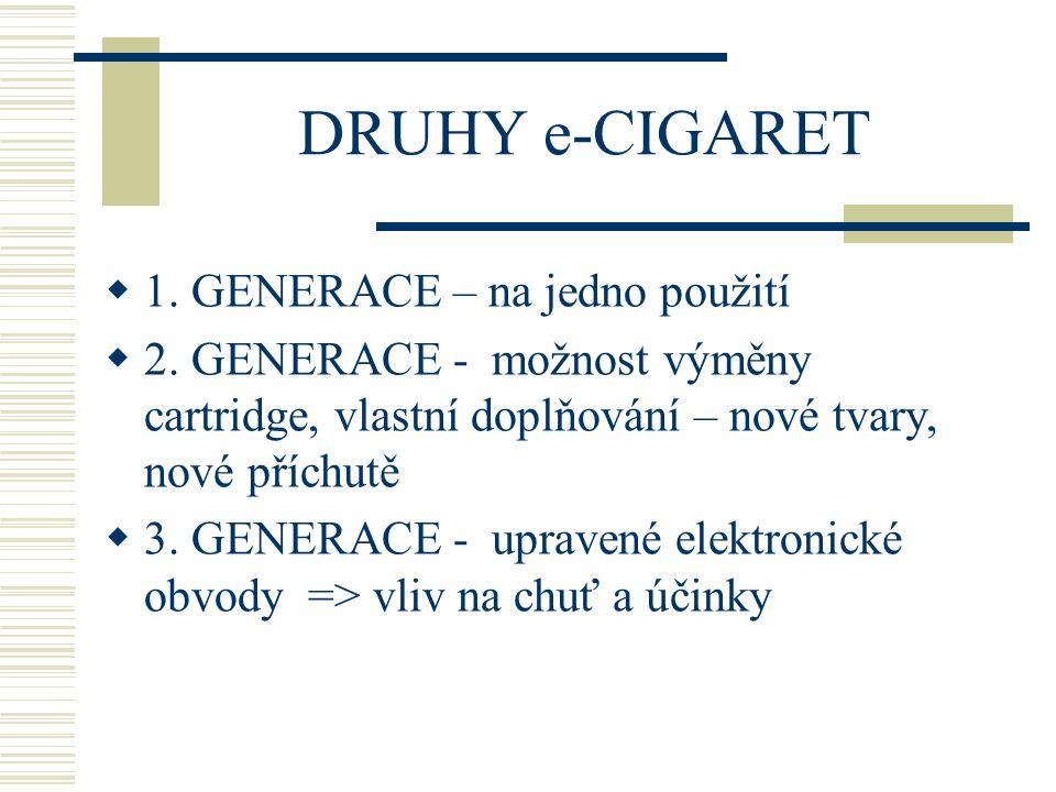 Druhy e-cigaret