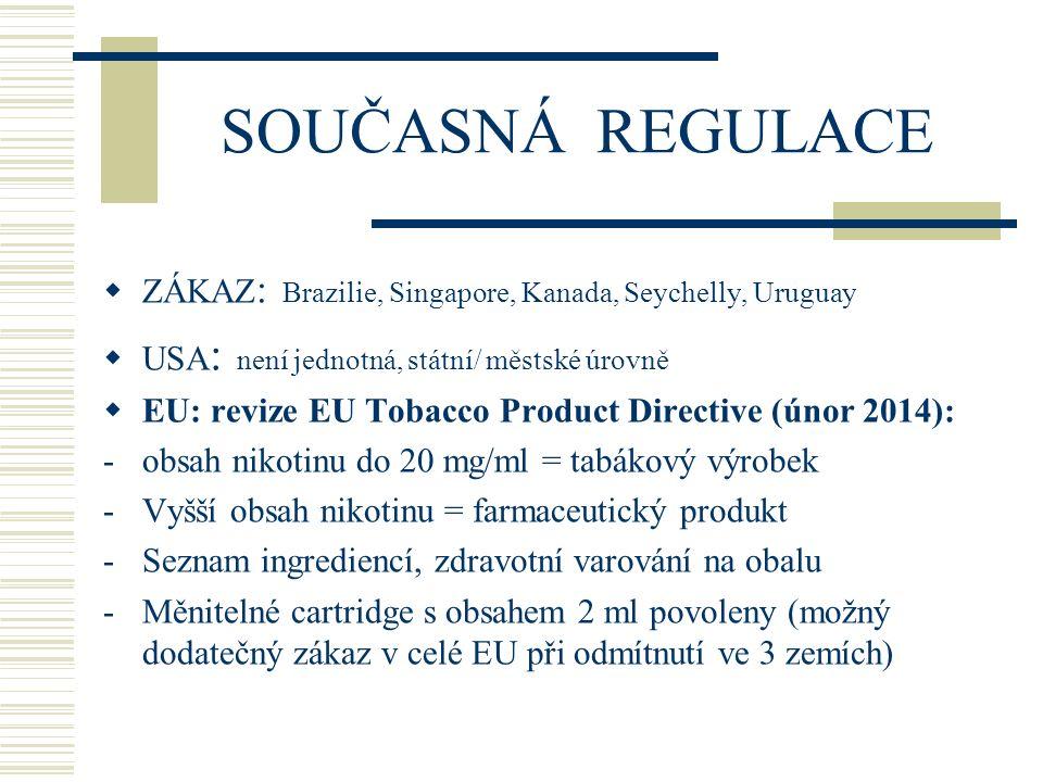 DOPORUČENÍ  Zákaz kouření e-cig.