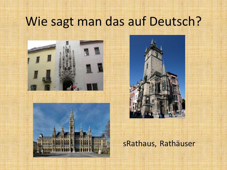 sRathaus, Rathäuser