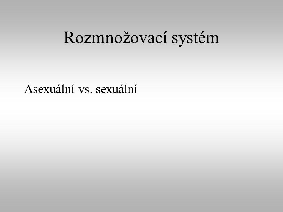 Rozmnožovací systém Asexuální vs. sexuální