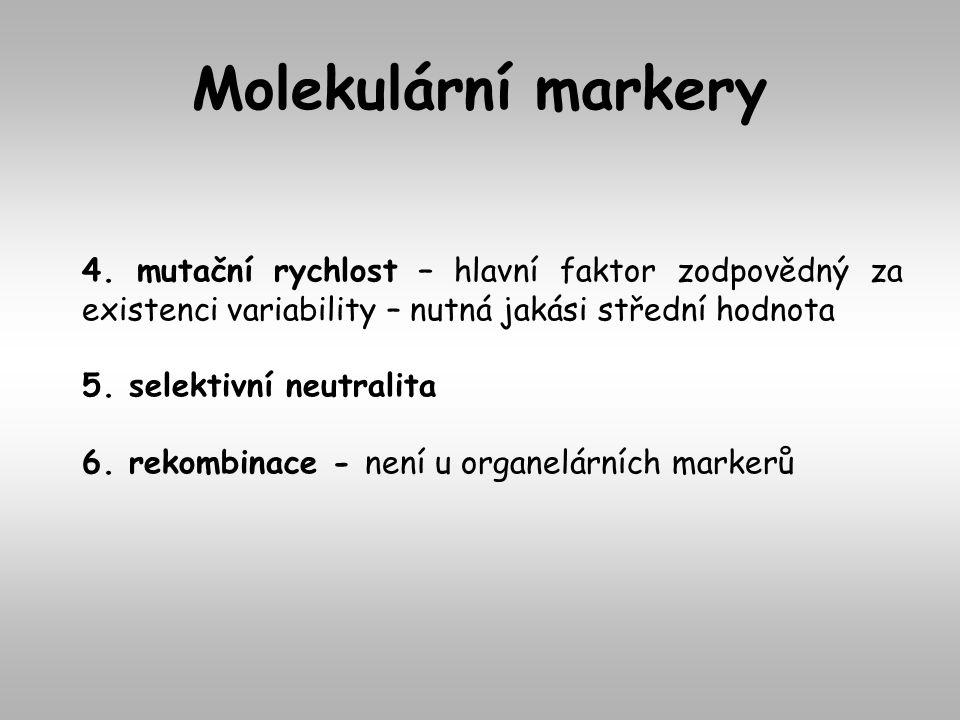 4. mutační rychlost – hlavní faktor zodpovědný za existenci variability – nutná jakási střední hodnota 5. selektivní neutralita 6. rekombinace - není