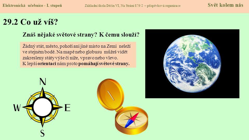 29.3 Světové strany – hlavní a vedlejší Elektronická učebnice - I.