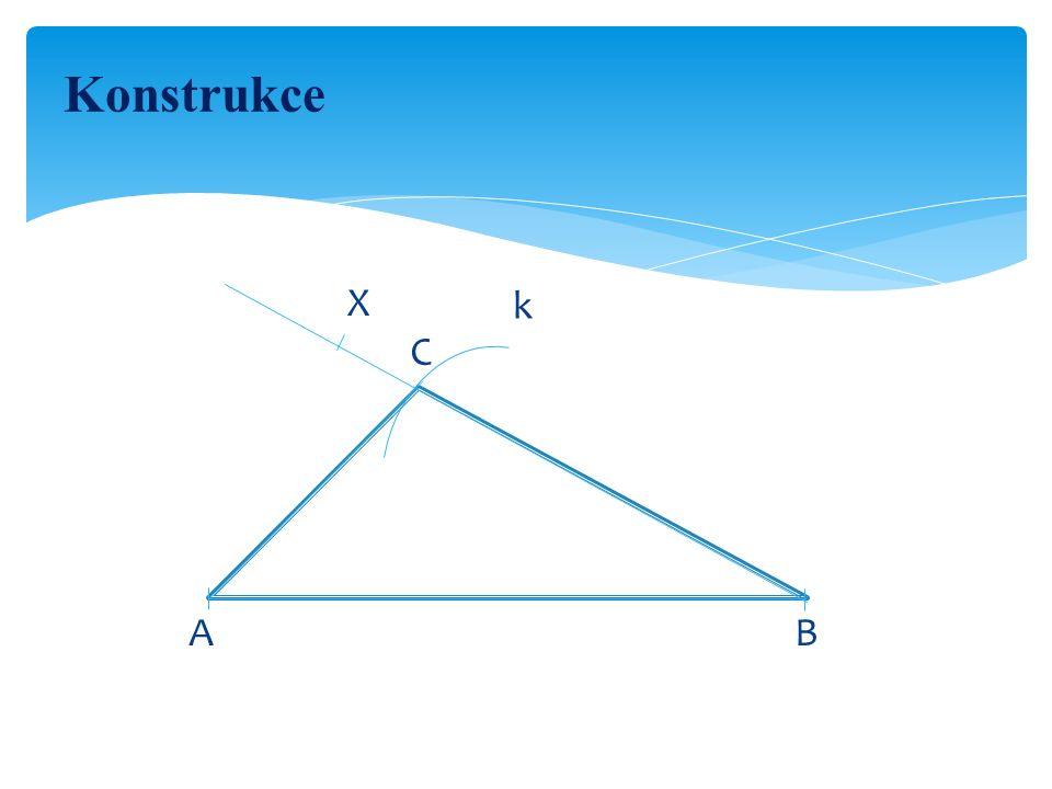 Ověření konstrukce Přeměříme velikosti stran a úhlu.