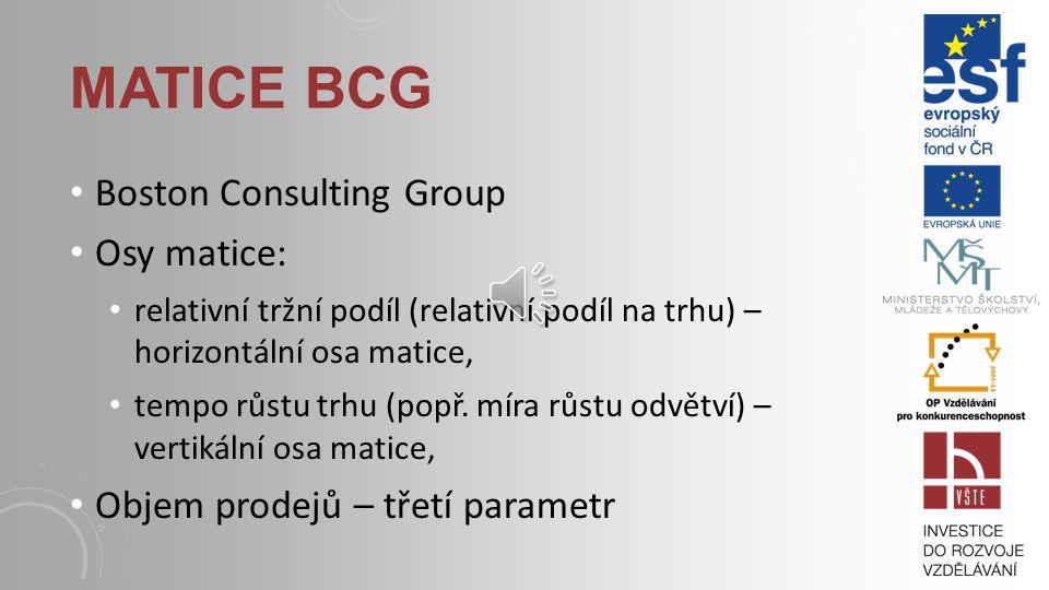 PORTFOLIO ANALÝZA proces sestávající z osmi základních kroků: 1.tvorba portfoliové matice, 2.zmapování konkurenčního prostředí, 3.vyjádření konkurence