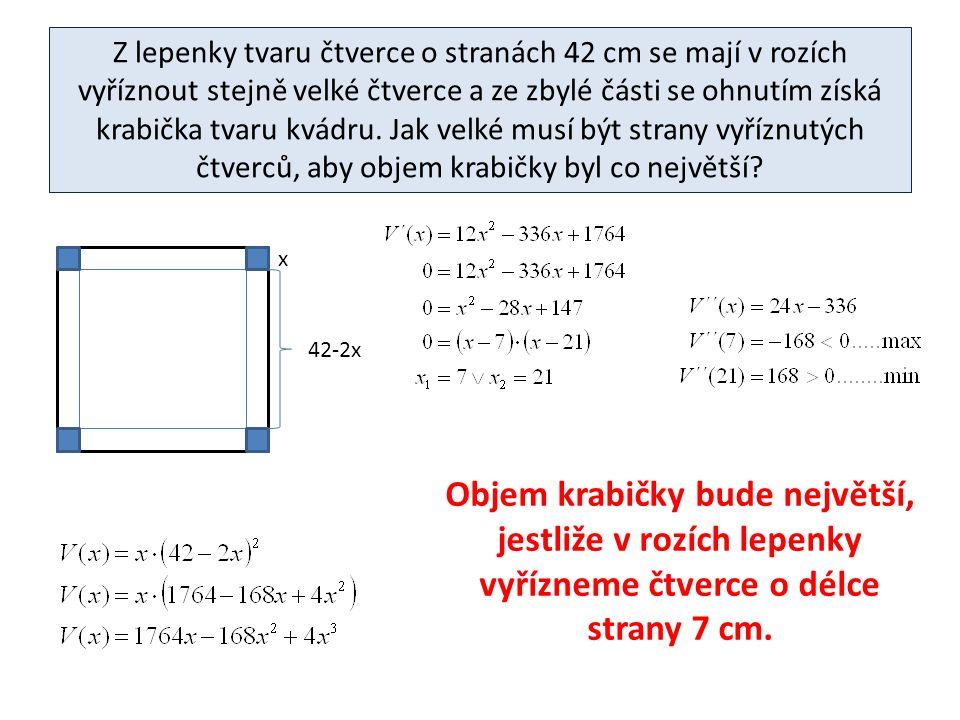 Do kružnice o poloměru r vepište pravoúhelník maximálního obsahu.