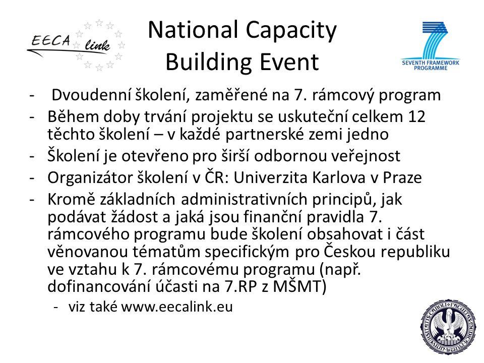 National Capacity Building Event - Dvoudenní školení, zaměřené na 7.