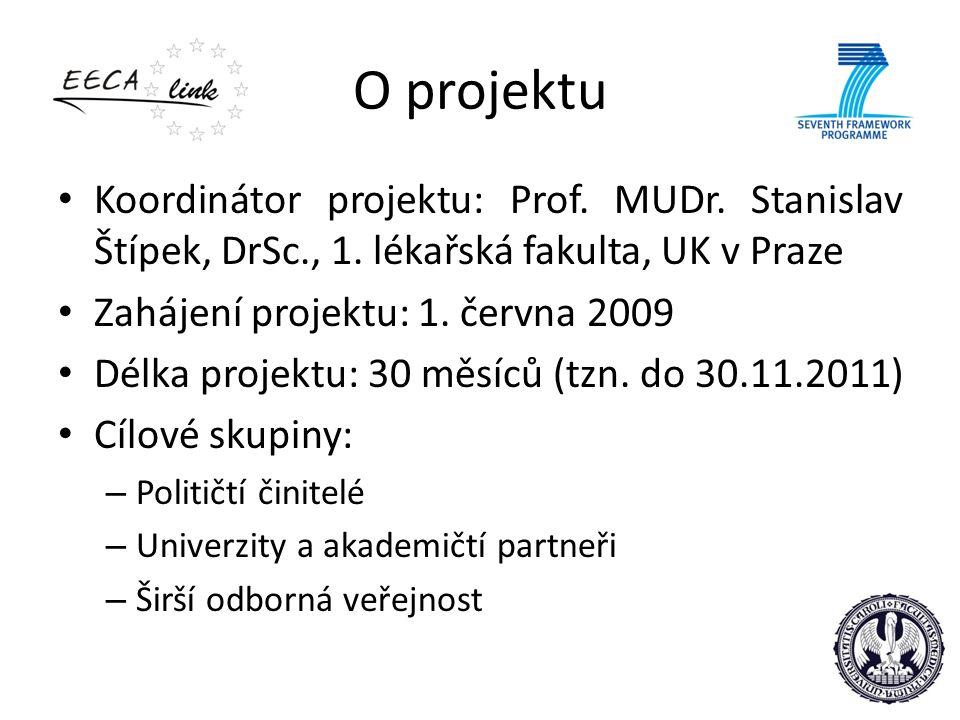 O projektu Koordinátor projektu: Prof. MUDr. Stanislav Štípek, DrSc., 1. lékařská fakulta, UK v Praze Zahájení projektu: 1. června 2009 Délka projektu