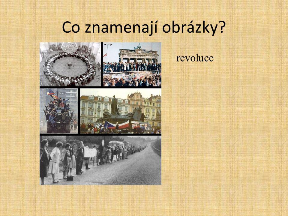 Co znamenají obrázky revoluce