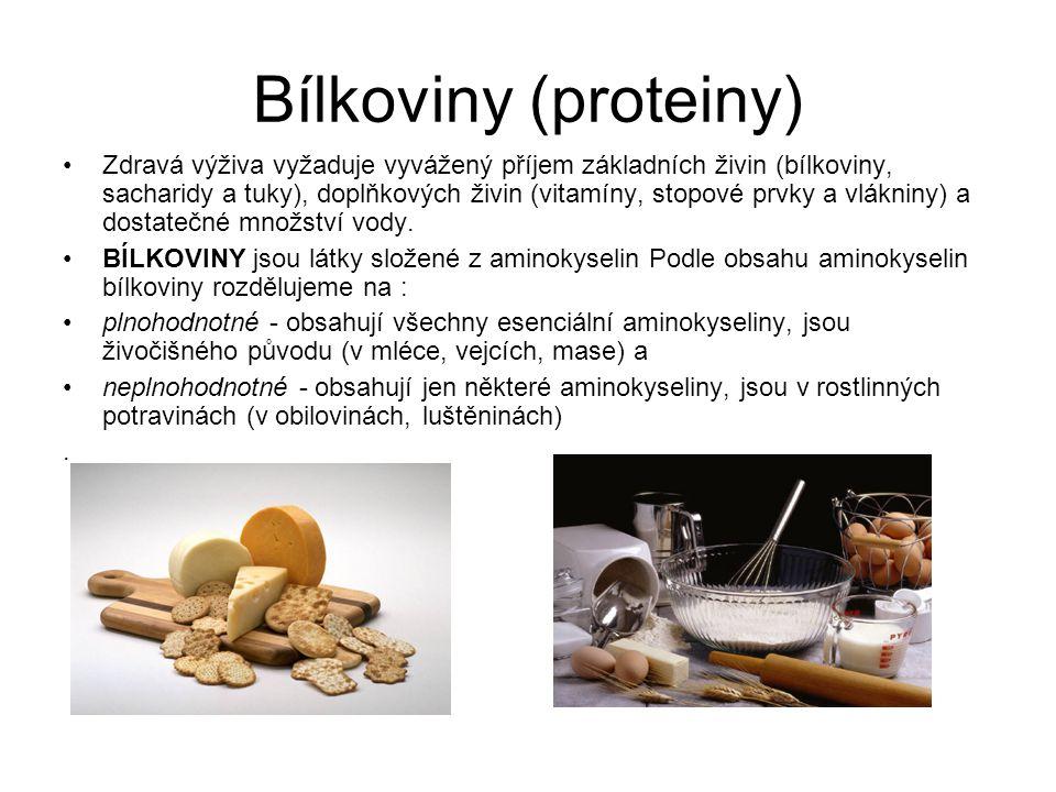 Člověk musí přijímat plnohodnotné i neplnohodnotné bílkoviny.