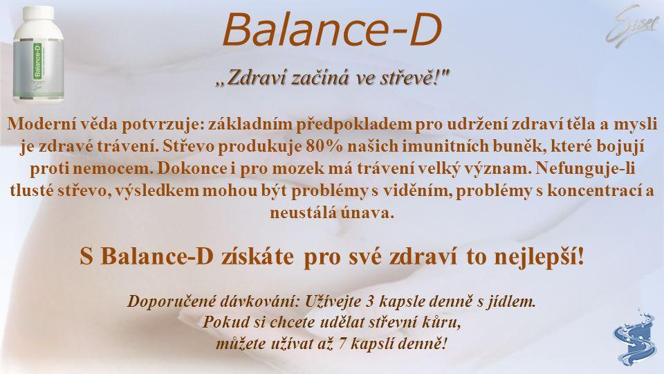 Balance-D VITAMIN D Balance-D obsahuje v jedné porci denní dávku 300IU vitaminu D. Vitamin D pomáhá tělu vstřebávat vápník, který podporuje růst kostí