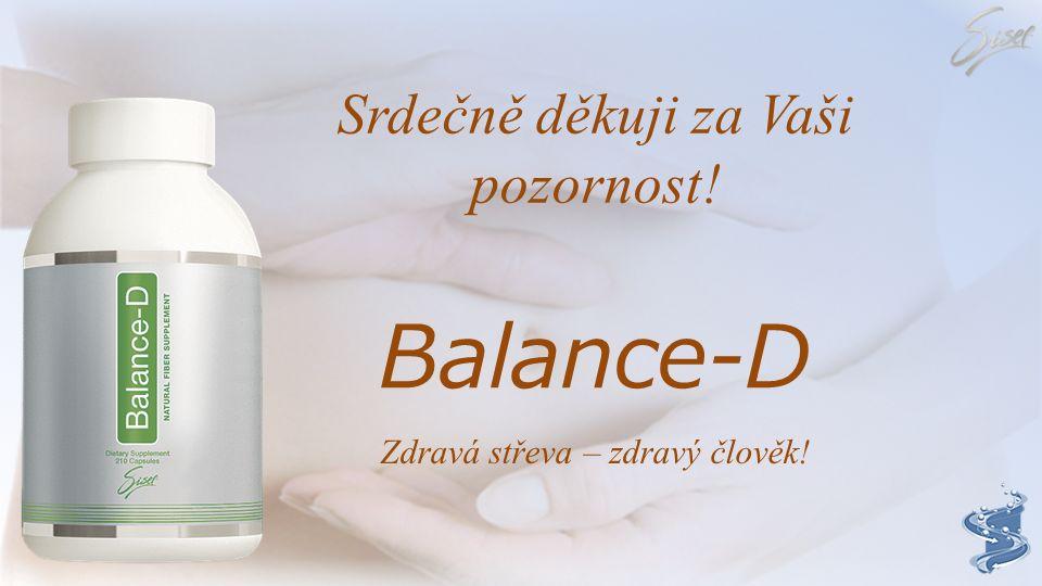 """Balance-D """"Zdraví začíná ve střevě!"""