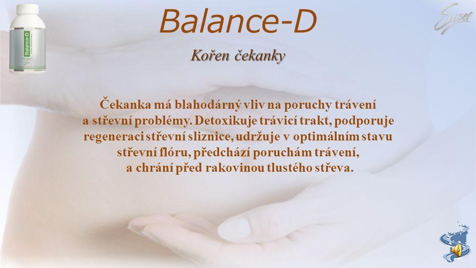 Balance-D Pozitivní účinky prebiotik příznivý vliv na mikroflóru tlustého střeva snížení energetického příjmu z potraviny zvětšení objemu stolice a po