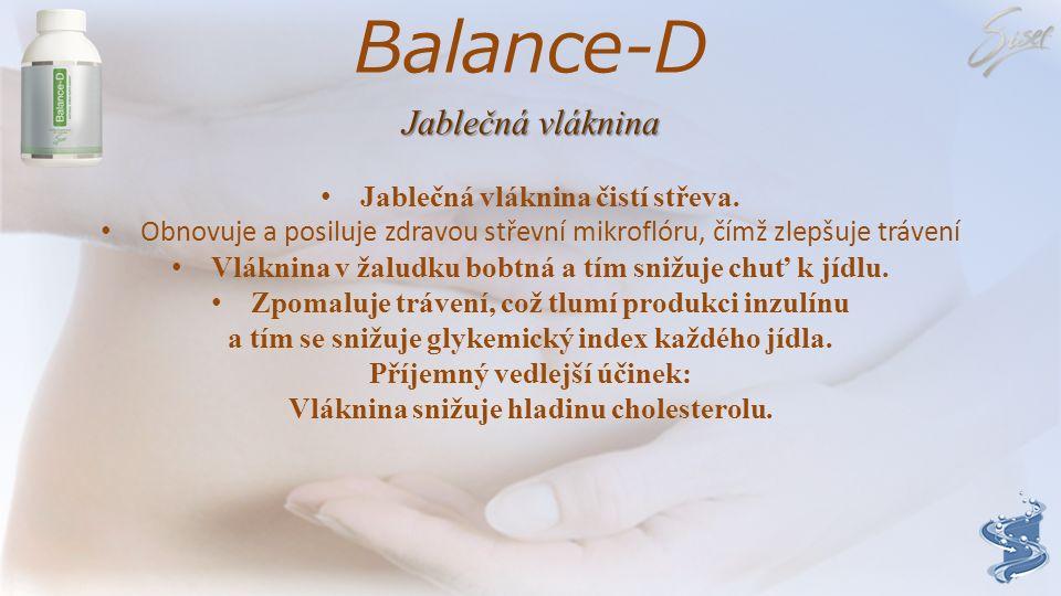 Balance-D Jablečná vláknina Jablečná vláknina čistí střeva.