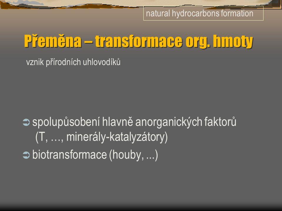 Přeměna – transformace org.
