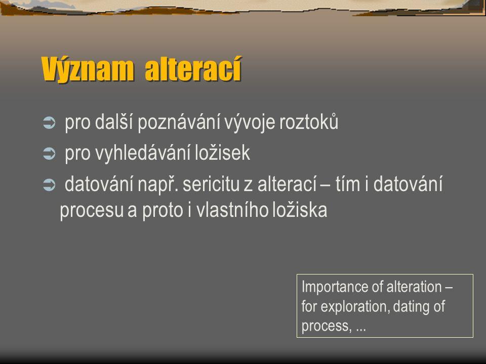 Qtz-Au žíly Cross section of Ft.