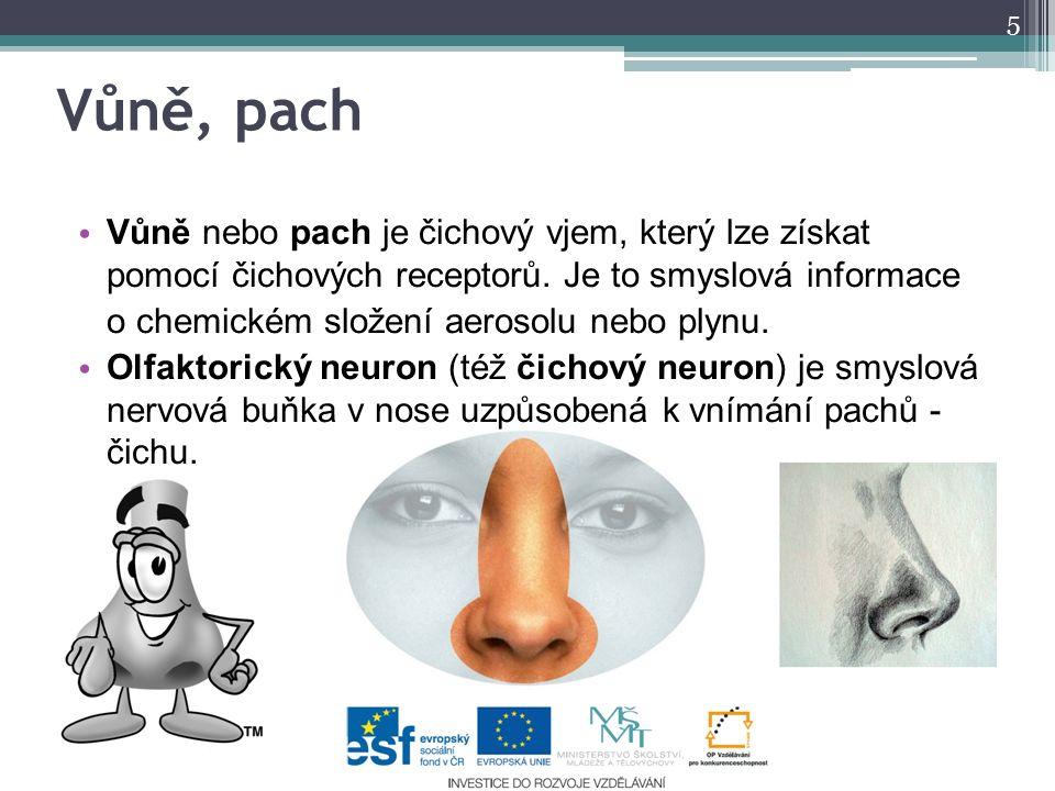 Vůně nebo pach je čichový vjem, který lze získat pomocí čichových receptorů. Je to smyslová informace o chemickém složení aerosolu nebo plynu. Olfakto