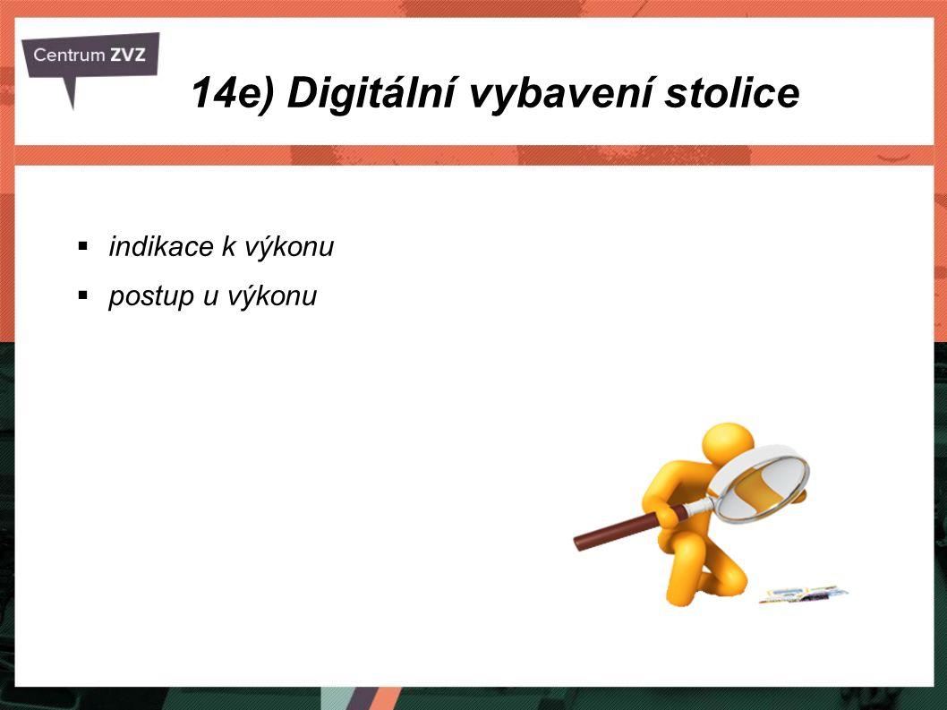 14e) Digitální vybavení stolice  indikace k výkonu  postup u výkonu