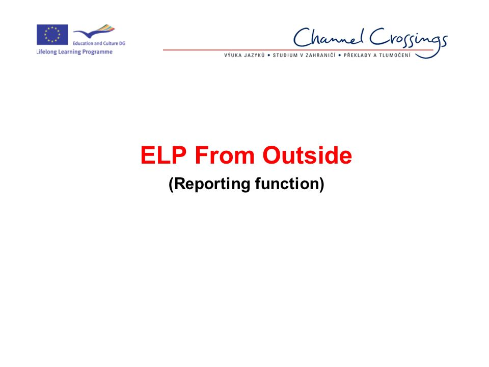 ELP From Outside (Reporting function)