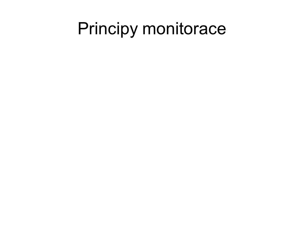 Principy monitorace