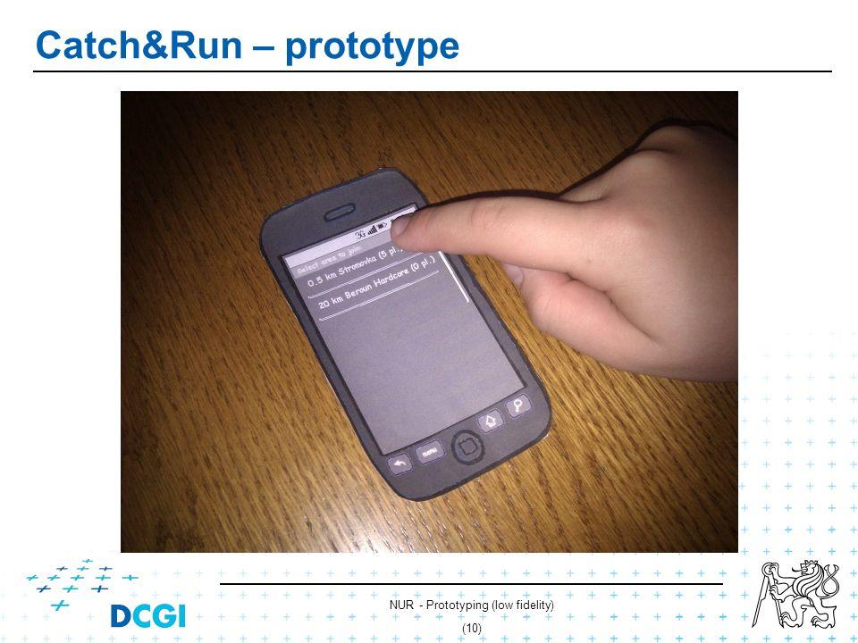 NUR - Prototyping (low fidelity) (9) Catch&Run – prototype